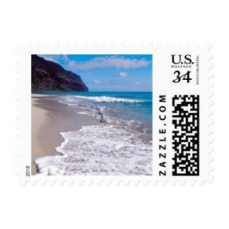 Postcard Beach Wedding Backdrop Postage Stamps