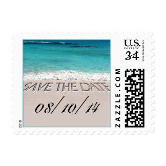 Postcard Beach Wedding Save The Date Postage