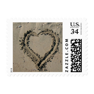 Postcard Beach Weddings Save The Date Postage Stam