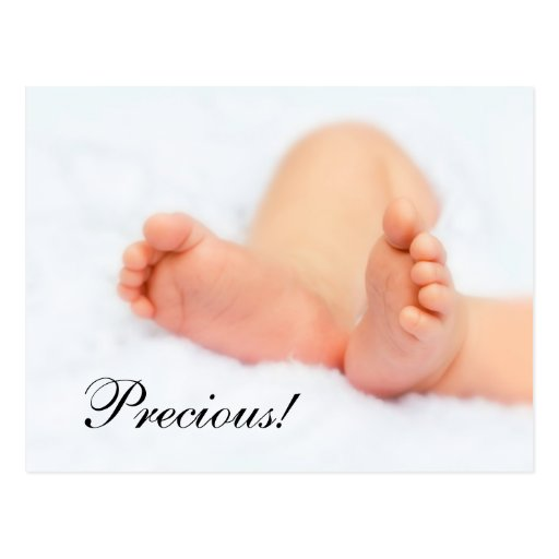 Postcard: Beautiful baby feet - Precious! Postcard