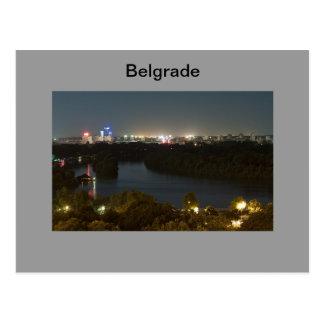 postcard Belgrade on the night