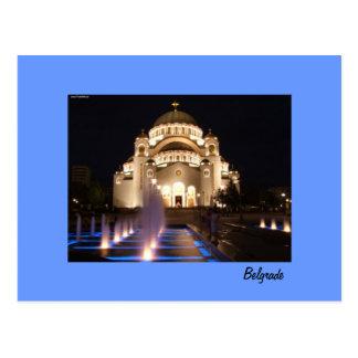 postcard Belgrade temple