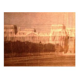 Postcard Berlin Reichstag veiling Christo
