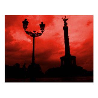 Postcard Berlin Sky on Fire