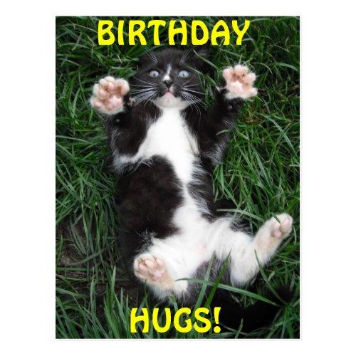 Postcard Birthday Hugs