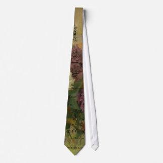 Postcard Blooms Neck Tie