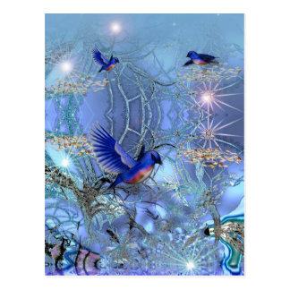 Postcard Blue Birds