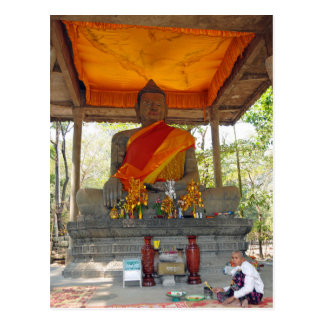 Postcard Cambodia, Angkor Thom Buddha