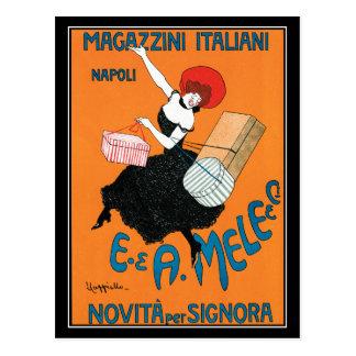 Postcard: Cappiello - Vintage - Magazzini Italiani Postcard