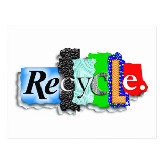 """Postcard: Card: """"RECYCLE"""""""