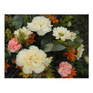 Postcard Carnation Bouquet