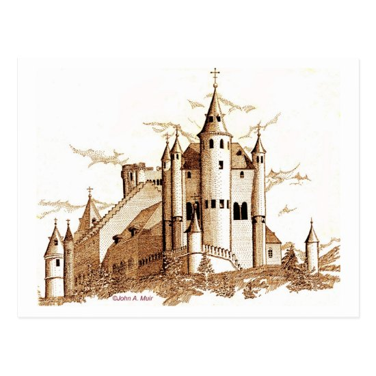 Postcard - Castle in Spain (sepia)