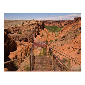 Postcard Chelly National Monument Canyon the USA
