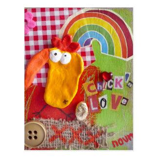Postcard chick N-coils