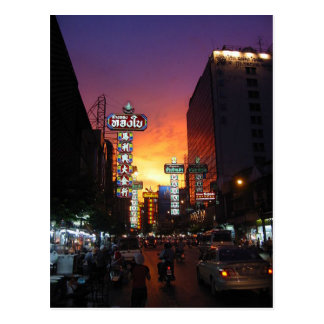 Postcard Chinatown, Bangkok, Thailand Postal