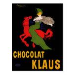 Postcard: Chocolat Klaus - Leonetto Cappiello