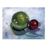 Postcard - 'Christmas baubles'