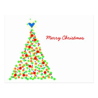 Árbol de Navidad - Postcard Tarjeta Postal