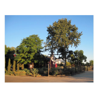 Postcard: Clautiere Vineyard Sign, Paso Robles