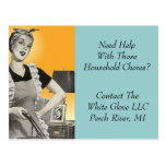 Postcard Cleaning Service Business Home Household