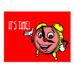 Postcard Clock Face Time Appointment Reminder