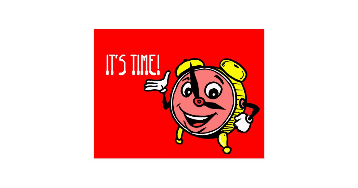 Postcard Clock Face Time Appointment Reminder Zazzle Com