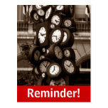 Postcard Clocks Time Visual Appointment Reminder