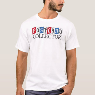 Postcard Collector T-Shirt (red and blue)