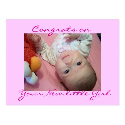 Postcard= Congrats encendido, su nueva niña Postal