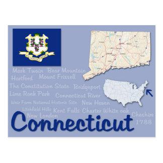 """Postcard """"Connecticut"""""""