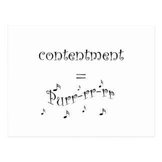 Postcard contentment = purr
