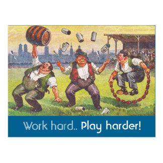"Postcard CRC life coach ""Work Hard.. Play Harder!"""