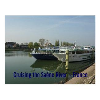 POSTCARD - Cruising the Saône River  - France