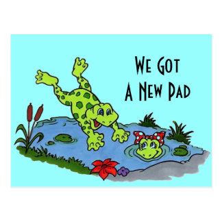Postcard Cute We ve Moved New Address Pad Frogs PC