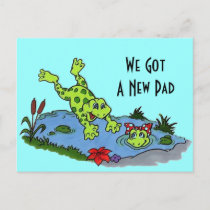 Postcard Cute We've Moved New Address Pad Frogs PC