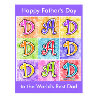 Postcard - DAD Pop Art