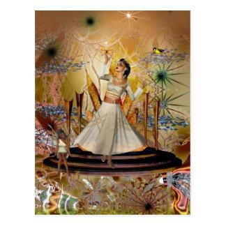 Postcard Dancer And Fairy