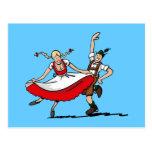 Postcard Dancing Bavarian Oktoberfest Couple