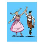 Postcard Dancing Oktoberfest Couple
