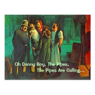 POSTCARD Danny Boy St. Patrick's Day Greeting PC