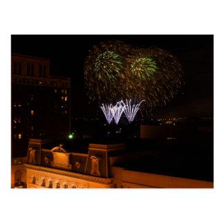 Postcard Dayton Fireworks