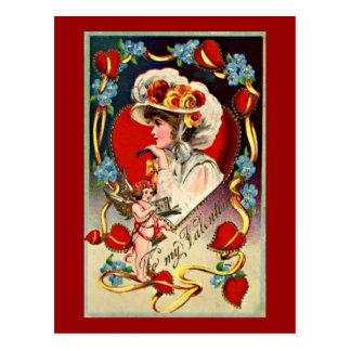 Postcard del vintage de señora Valentine's Postales
