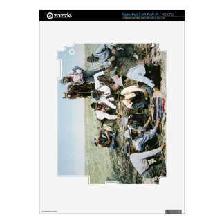 Postcard depicting cowboys gambling shooting craps skins for iPad 3