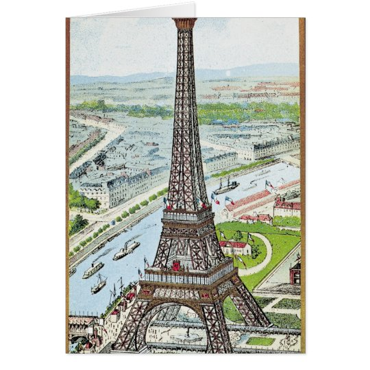 Postcard depicting the Eiffel Tower