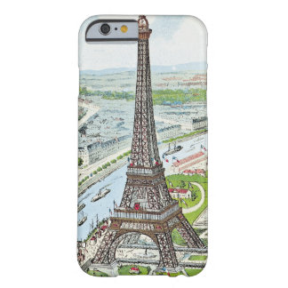 Postcard depicting the Eiffel Tower Barely There iPhone 6 Case