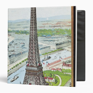 Postcard depicting the Eiffel Tower Binder