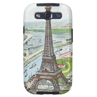 Postcard depicting the Eiffel Tower Galaxy SIII Covers