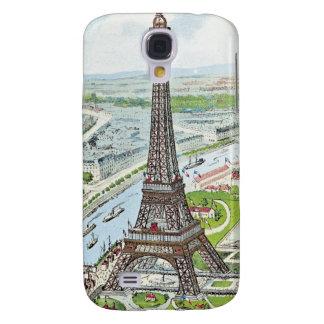 Postcard depicting the Eiffel Tower Samsung Galaxy S4 Case