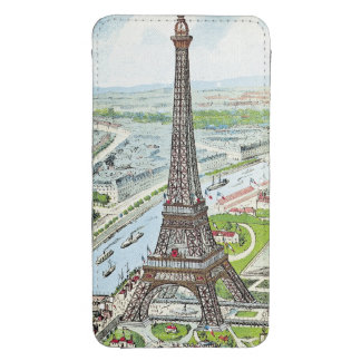 Postcard depicting the Eiffel Tower Galaxy S4 Pouch