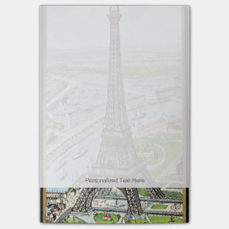 Postcard depicting the Eiffel Tower Post-it® Notes
